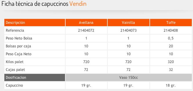 Capuccinos Vendin