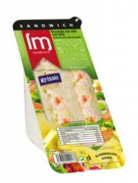 Sandwich ensalada del mar y piña