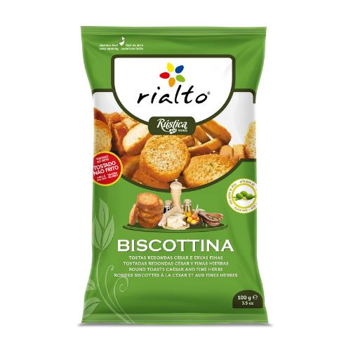 Biscottina Tostada césar y finas hierbas