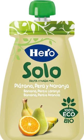 Bolsita Solo Plátano, Pera y Naranja