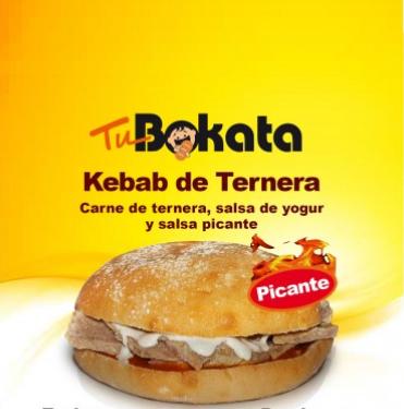 Kebab de ternera picante