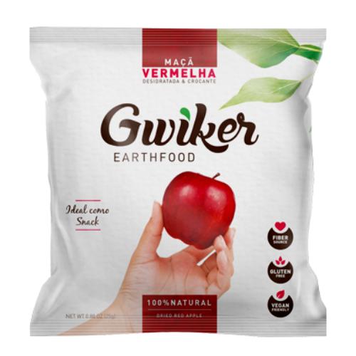 Manzana Roja deshidratada 20g Gwiker
