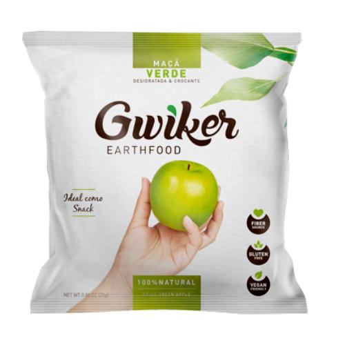 Manzana Verde deshidratada 20g Gwiker
