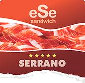 Sándwich con jamón serrano