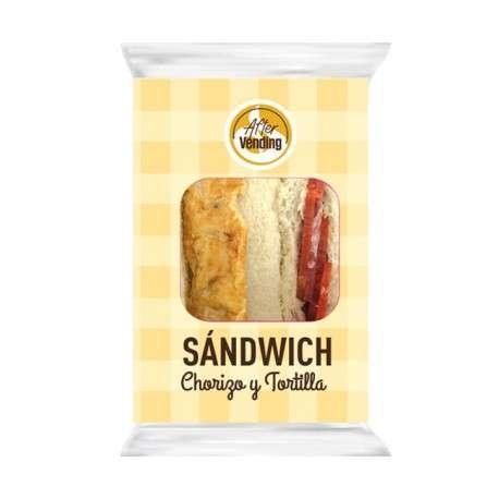 Sándwich de chorizo y tortilla