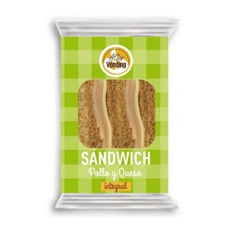 Sándwich de pollo y queso