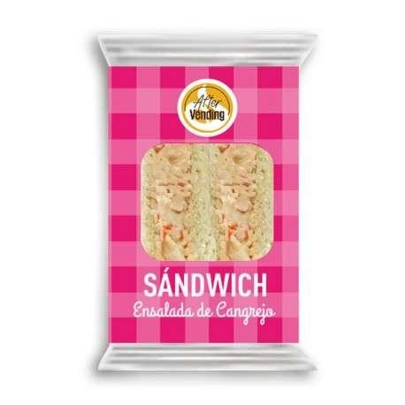 Sándwich ensalada de cangrejo