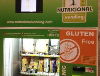 productos sin gluten para el vending