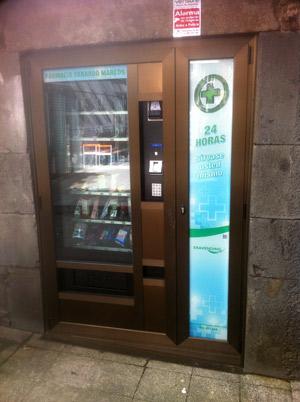 Máquina de vending en farmacias
