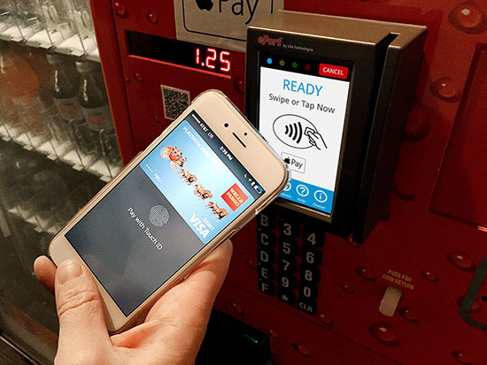 Apple Pay en el vending