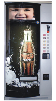 AVM IST digital signage pantalla LCD vending machines expendedoras maquinas